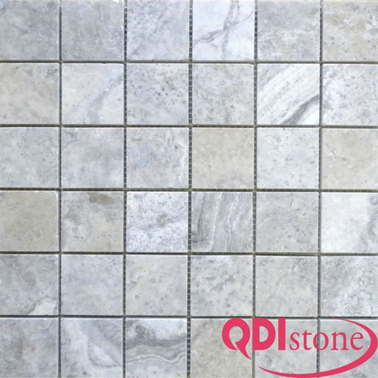Silver Travertine Mosaic Tile Qdi Surfaces