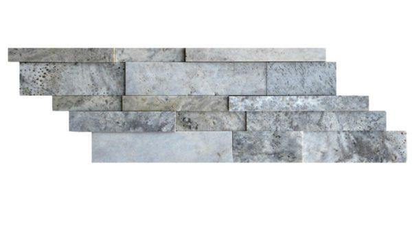 Silver Travertine Mosaic Tile Z Pattern Honed Beige Cream Gray White Indoor Floor Wall Backsplash Countertop Tub Shower Vanity QDIsurfaces