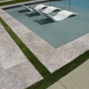 Silver Travertine Paver 16x24 Tumbled 14 Gray White Outdoor Floor Wall Pool Patio Backyard Tub Shower Vanity QDIsurfaces