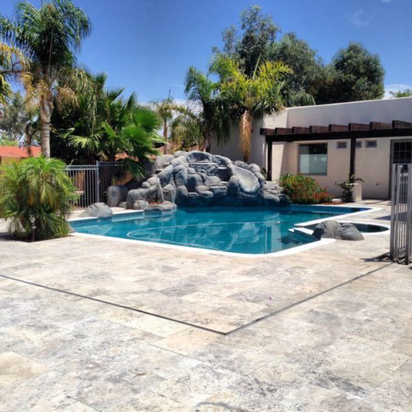Silver Travertine Paver 16x24 Tumbled 16 Gray White Outdoor Floor Wall Pool Patio Backyard Tub Shower Vanity QDIsurfaces