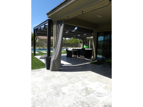 Silver Travertine Paver 16x24 Tumbled 2 Gray White Outdoor Floor Wall Pool Patio Backyard Tub Shower Vanity QDIsurfaces