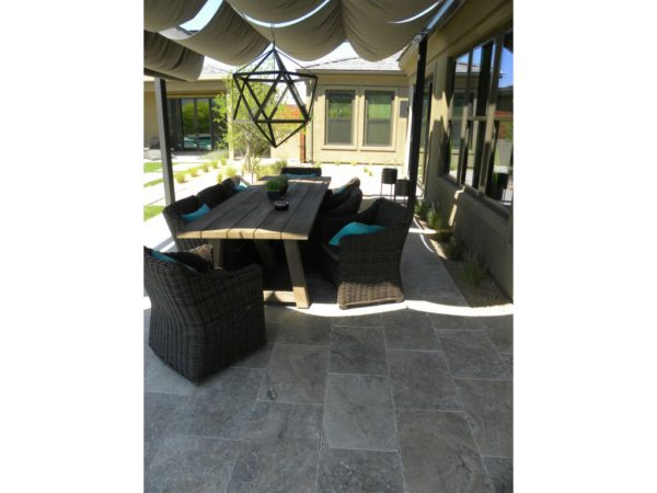 Silver Travertine Paver 16x24 Tumbled 4 Gray White Outdoor Floor Wall Pool Patio Backyard Tub Shower Vanity QDIsurfaces