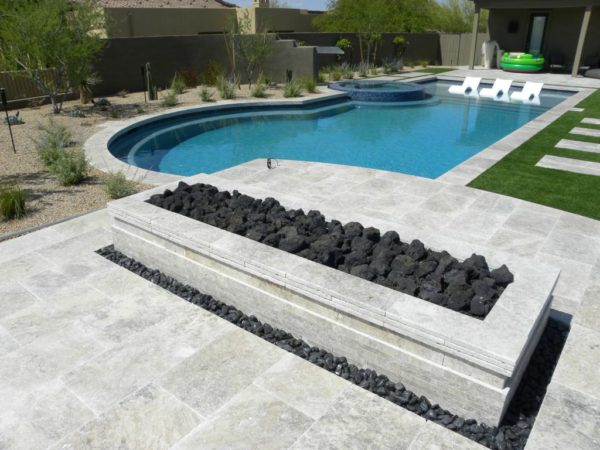 Silver Travertine Paver 16x24 Tumbled 6 Gray White Outdoor Floor Wall Pool Patio Backyard Tub Shower Vanity QDIsurfaces