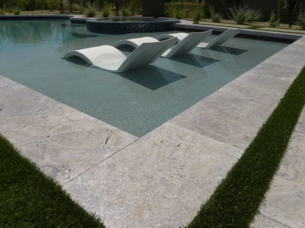 Silver Travertine Paver 16x24 Tumbled 7 Gray White Outdoor Floor Wall Pool Patio Backyard Tub Shower Vanity QDIsurfaces