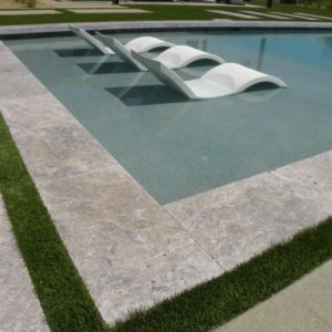 Silver Travertine Paver 16x24 Tumbled 9 Gray White Outdoor Floor Wall Pool Patio Backyard Tub Shower Vanity QDIsurfaces