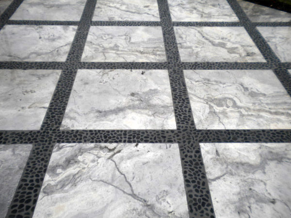 Silver Travertine Paver 24x24 Tumbled 3 Gray White Outdoor Floor Wall Pool Patio Backyard Tub Shower Vanity QDIsurfaces