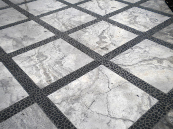 Silver Travertine Paver 24x24 Tumbled 4 Gray White Outdoor Floor Wall Pool Patio Backyard Tub Shower Vanity QDIsurfaces