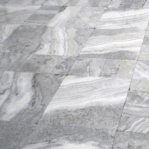 Silver Travertine Paver 24x24 Tumbled Gray White Outdoor Floor Wall Pool Patio Backyard Tub Shower Vanity QDIsurfaces