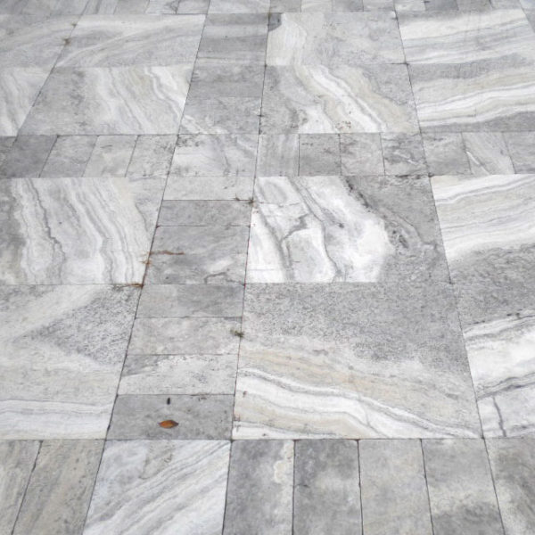 Silver Travertine Paver 6x12 Tumbled Gray White Outdoor Floor Wall Pool Patio Backyard Tub Shower Vanity QDIsurfaces