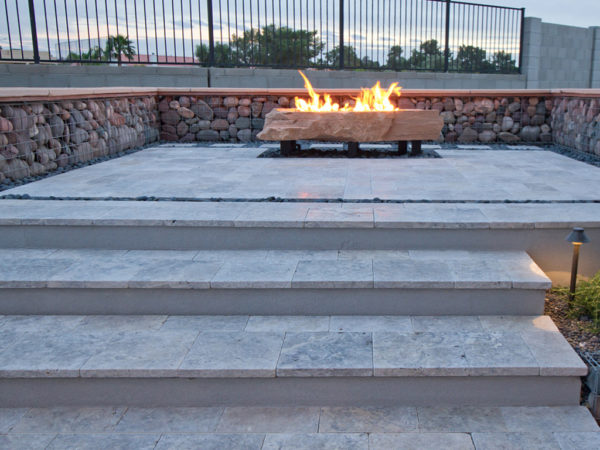 Silver Travertine Paver Roman Pattern Tumbled 3 Gray White Outdoor Floor Wall Pool Patio Backyard Tub Shower Vanity QDIsurfaces