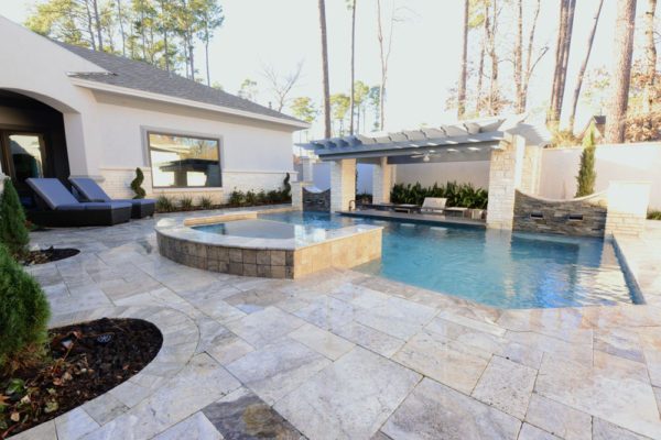 Silver Travertine Paver Versailles Pattern Tumbled 3 Gray White Outdoor Floor Wall Pool Patio Backyard Tub Shower Vanity QDIsurfaces