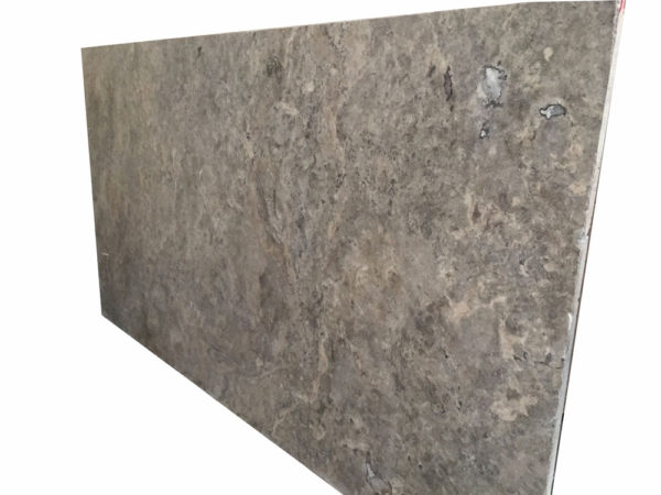 Silver Travertine Slab 9x6 Filled Honed Beige Cream Gray White Indoor Outdoor QDISurfaces
