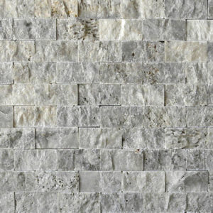 Silver Travertine Split Face Tile Beige Cream Gray White Indoor Outdoor Wall Backsplash Tub Shower Vanity QDIsurfaces