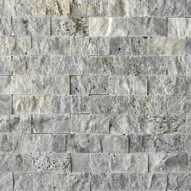 SILVER Travertine Split Face Tile QDI Surfaces