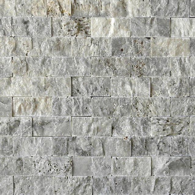 Silver Travertine Split Face Tile Beige Cream Gray White Indoor Outdoor Wall Backsplash Tub Shower Vanity