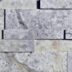 Silver Travertine Stack Stone Wall Cladding Panel Beige Cream Gray White Indoor Outdoor Wall Backsplash Tub Shower Vanity QDIsurfaces
