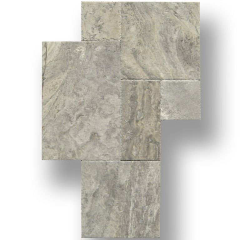 Silver Travertine Backsplash: QDI SILVER Travertine Tile