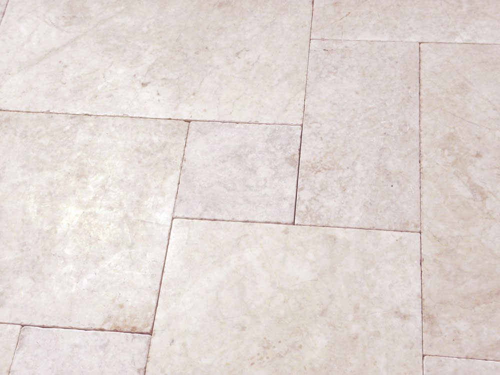 Sonoran Pearl Marble Paver Versailles Pattern Tumbled 2 Beige Cream Gray Outdoor Floor Wall Pool Patio Backyard QDIsurfaces
