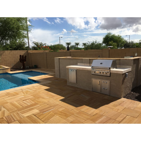 Teakwood Sandstone Paver Versailles Pattern Sandblasted 10 Tan Brown Beige Cream Outdoor Floor Wall Pool Patio Backyard QDIsurfaces