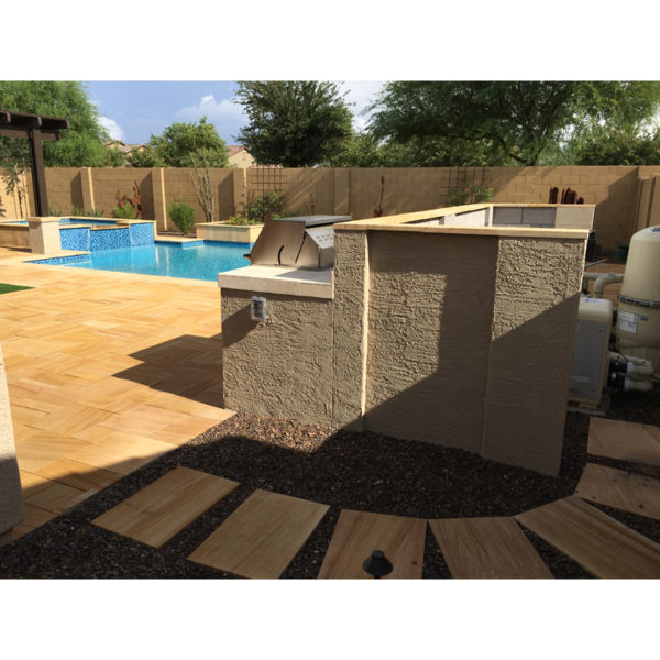Teakwood Sandstone Paver Versailles Pattern Sandblasted 11 Tan Brown Beige Cream Outdoor Floor Wall Pool Patio Backyard QDIsurfaces