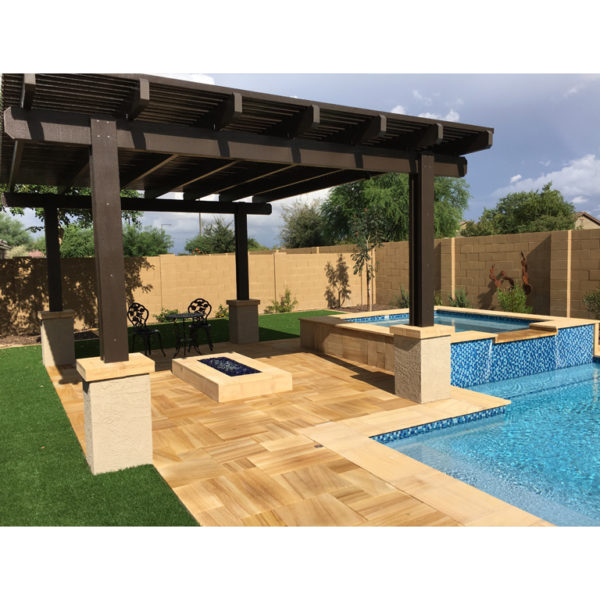 Teakwood Sandstone Paver Versailles Pattern Sandblasted 13 Tan Brown Beige Cream Outdoor Floor Wall Pool Patio Backyard QDIsurfaces