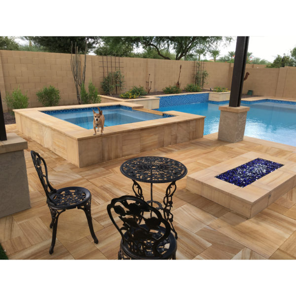 Teakwood Sandstone Paver Versailles Pattern Sandblasted 19 Tan Brown Beige Cream Outdoor Floor Wall Pool Patio Backyard QDIsurfaces