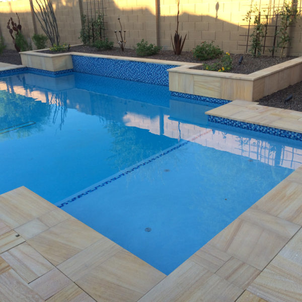 Teakwood Sandstone Paver Versailles Pattern Sandblasted 30 Tan Brown Beige Cream Outdoor Floor Wall Pool Patio Backyard QDIsurfaces