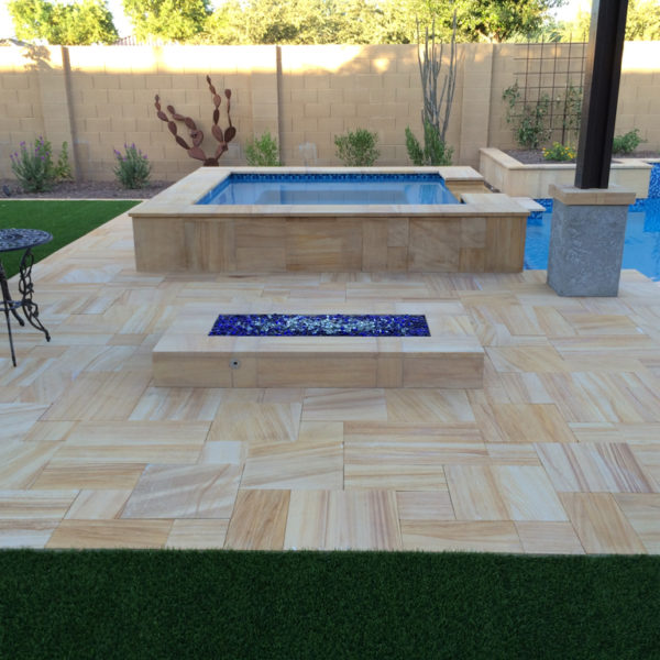 Teakwood Sandstone Paver Versailles Pattern Sandblasted 34 Tan Brown Beige Cream Outdoor Floor Wall Pool Patio Backyard QDIsurfaces