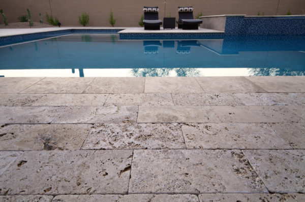Walnut Travertine Paver 16x24 Tumbled 2 Tan Brown Beige Cream Outdoor Floor Wall Pool Patio Backyard Tub Shower Vanity QDIsurfaces