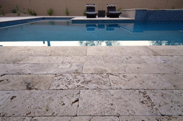 Walnut Travertine Paver 16x24 Tumbled 2 Tan Brown Beige Cream Outdoor Floor Wall Pool Patio Backyard Tub Shower Vanity QDIsurfaces