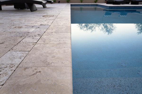 Walnut Travertine Paver 16x24 Tumbled 3 Tan Brown Beige Cream Outdoor Floor Wall Pool Patio Backyard Tub Shower Vanity QDIsurfaces