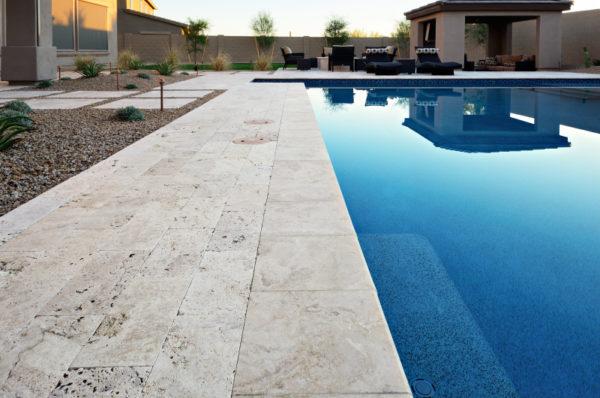 Walnut Travertine Paver 16x24 Tumbled 4 Tan Brown Beige Cream Outdoor Floor Wall Pool Patio Backyard Tub Shower Vanity QDIsurfaces