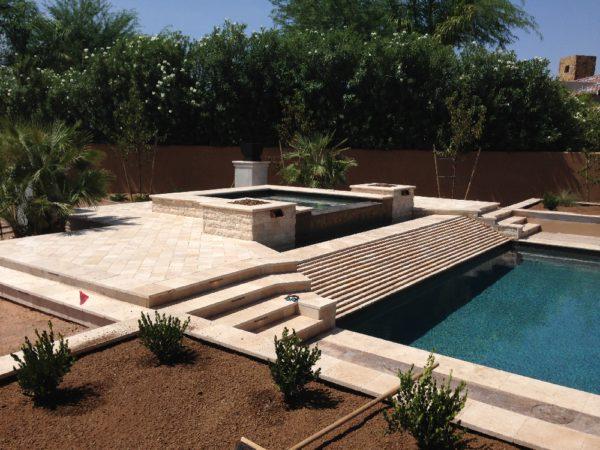 Walnut Travertine Paver 16x24 Tumbled Tan Brown Beige Cream Outdoor Floor Wall Pool Patio Backyard Tub Shower Vanity QDIsurfaces