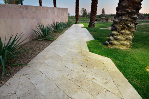 Walnut Travertine Paver 6x12 Tumbled 10 Tan Brown Beige Cream Outdoor Floor Wall Pool Patio Backyard Tub Shower Vanity QDIsurfaces