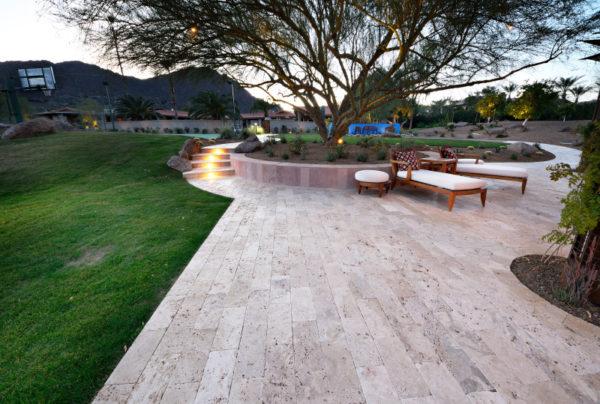 Walnut Travertine Paver 6x12 Tumbled 11 Tan Brown Beige Cream Outdoor Floor Wall Pool Patio Backyard Tub Shower Vanity QDIsurfaces