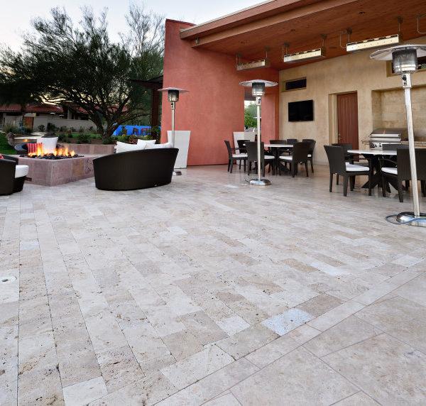 Walnut Travertine Paver 6x12 Tumbled 19 Tan Brown Beige Cream Outdoor Floor  Wall Pool Patio Backyard