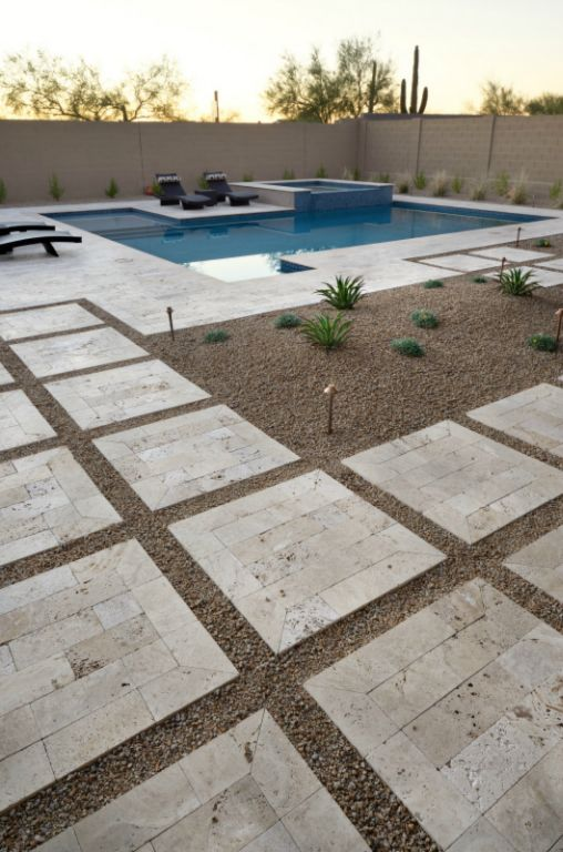 Walnut Travertine Paver 6x12 Tumbled 25 Tan Brown Beige Cream Outdoor Floor Wall Pool Patio Backyard Tub Shower Vanity QDIsurfaces
