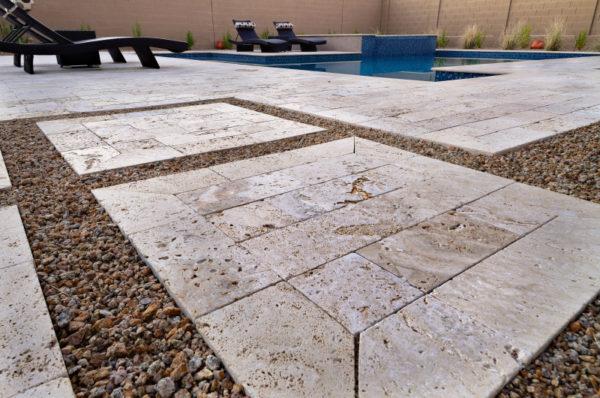 Walnut Travertine Paver 6x12 Tumbled 26 Tan Brown Beige Cream Outdoor Floor Wall Pool Patio Backyard Tub Shower Vanity QDIsurfaces