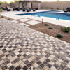 Walnut Travertine Paver 6x12 Tumbled 27 Tan Brown Beige Cream Outdoor Floor Wall Pool Patio Backyard Tub Shower Vanity QDIsurfaces