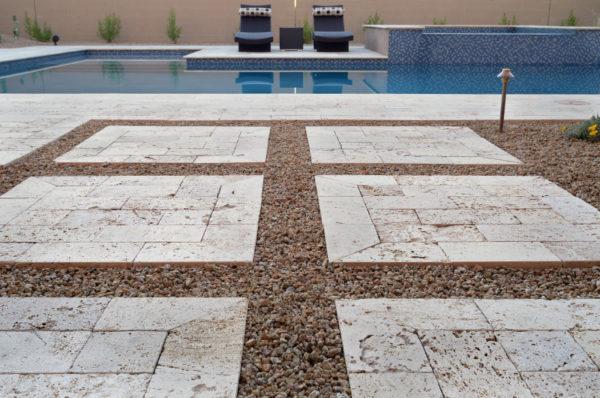 Walnut Travertine Paver 6x12 Tumbled 29 Tan Brown Beige Cream Outdoor Floor Wall Pool Patio Backyard Tub Shower Vanity QDIsurfaces