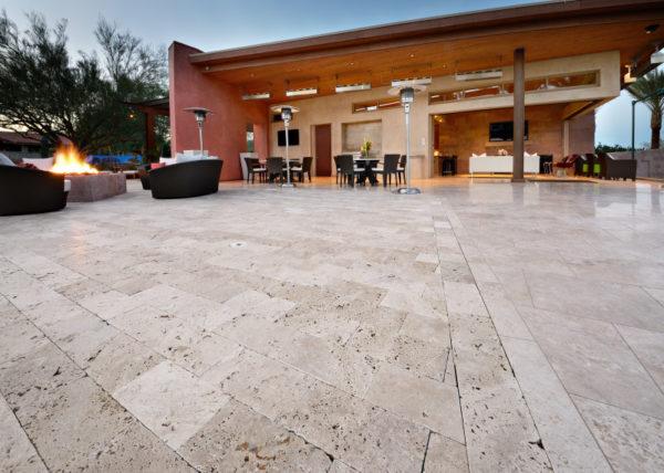 Walnut Travertine Paver 6x12 Tumbled 3 Tan Brown Beige Cream Outdoor Floor Wall Pool Patio Backyard Tub Shower Vanity QDIsurfaces