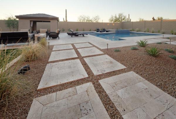 Walnut Travertine Paver 6x12 Tumbled 30 Tan Brown Beige Cream Outdoor Floor Wall Pool Patio Backyard Tub Shower Vanity QDIsurfaces