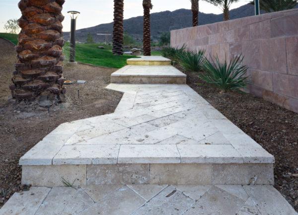 Walnut Travertine Paver 6x12 Tumbled 9 Tan Brown Beige Cream Outdoor Floor Wall Pool Patio Backyard Tub Shower Vanity QDIsurfaces