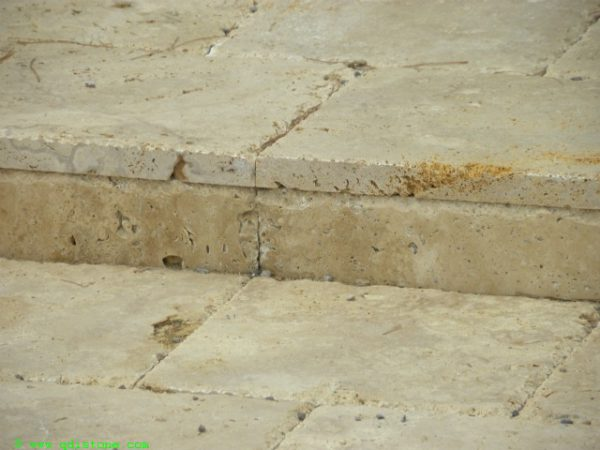 Walnut Travertine Paver 6x12 Unfilled Brushed Chiseled Edge 4 Tan Brown Beige Cream Outdoor Floor Wall Pool Patio Backyard Tub Shower Vanity