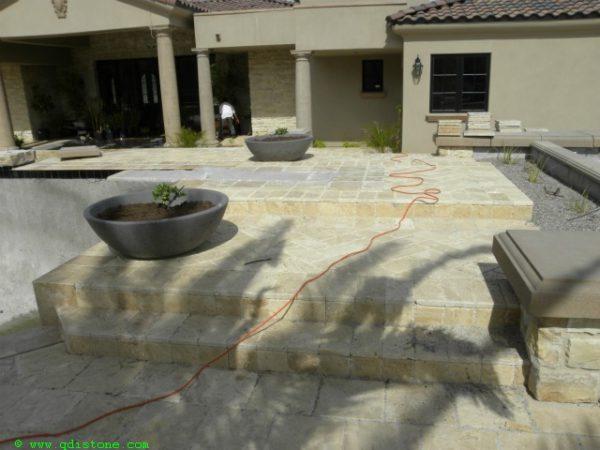 Walnut Travertine Paver 6x12 Unfilled Brushed Chiseled Edge 9 Tan Brown Beige Cream Outdoor Floor Wall Pool Patio Backyard Tub Shower Vanity