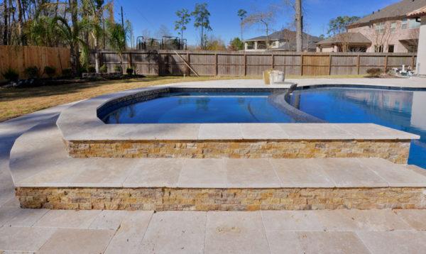 Walnut Travertine Paver Versailles Pattern Tumbled 5 Tan Brown Beige Cream Outdoor Floor Wall Pool Patio Backyard Tub Shower Vanity QDI