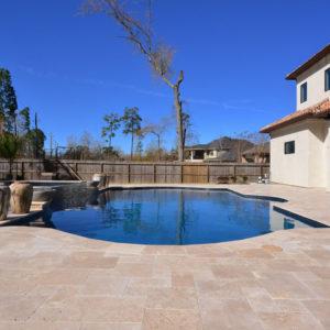 Walnut Travertine Paver Versailles Pattern Tumbled Tan Brown Beige Cream Outdoor Floor Wall Pool Patio Backyard Tub Shower Vanity QDI
