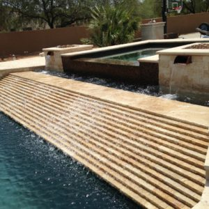 Walnut Travertine Pool Coping 12x24 5cm Tumbled 3 Tan Brown Beige Cream Gray White Outdoor Floor Wall Pool Patio Backyard Tub Shower Vanity