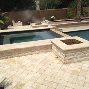 Walnut Travertine Pool Coping 12x24 5cm Tumbled Tan Brown Beige Cream Gray White Outdoor Floor Wall Pool Patio Backyard Tub Shower Vanity