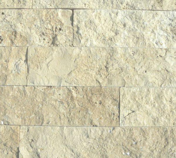 Walnut Travertine Split Face Tile 4 x Random Length 4 Tan Brown Beige Cream Gray White Indoor Outdoor Wall Backsplash Tub Shower Vanity